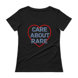 Care About Rare Disease Scoop Neck Women's Shirt - Choose Color - Sunshine and Spoons Shop