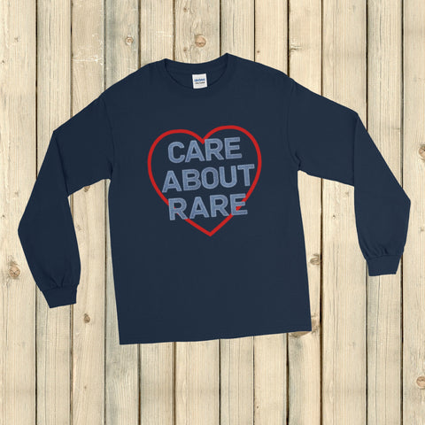 Care About Rare Disease Unisex Long Sleeved Shirt - Choose Color
