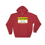Caution! High Pain Levels Ahead Chronic Illness Hoodie Sweatshirt - Choose Color - Sunshine and Spoons Shop