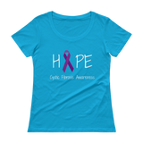Hope Ribbon for Cystic Fibrosis Awareness Scoop Neck Women's Shirt - Choose Color - Sunshine and Spoons Shop
