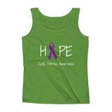 Hope Ribbon for Cystic Fibrosis Awareness Women's Tank Top - Choose Color - Sunshine and Spoons Shop