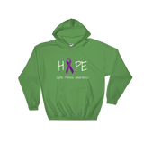 Hope Ribbon for Cystic Fibrosis Awareness Hoodie Sweatshirt - Choose Color - Sunshine and Spoons Shop