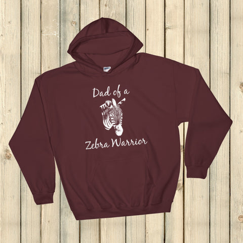 Dad of a Zebra Warrior Rare Disease Ehlers Danlos EDS Hoodie Sweatshirt - Choose Color - Sunshine and Spoons Shop