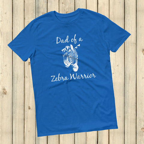 Dad of a Zebra Warrior Rare Disease Ehlers Danlos EDS Unisex Shirt - Choose Color