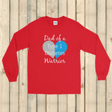 Dad of a Type 1 Diabetes Warrior T1D Unisex Long Sleeved Shirt - Choose Color - Sunshine and Spoons Shop