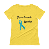 Dysautonomia Warrior POTS Awareness Scoop Neck Women's Shirt - Choose Color - Sunshine and Spoons Shop