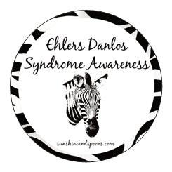 Ehlers Danlos Syndrome Awareness Stickers - FREE Shipping to US and Canada - Sunshine and Spoons Shop