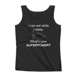 I Can Eat While I Sleep Feeding Tube Superpower Women's Tank Top - Choose Color - Sunshine and Spoons Shop