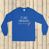 It's Not Contagious! Eczema Awareness Unisex Long Sleeved Shirt - Choose Color - Sunshine and Spoons Shop