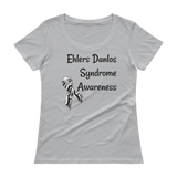 Ehlers Danlos Syndrome EDS Awareness Scoop Neck Women's Shirt - Choose Color