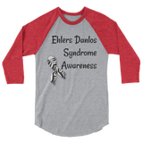 Ehlers Danlos Syndrome EDS Awareness 3/4 Sleeve Unisex Raglan - Choose Color - Sunshine and Spoons Shop