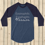 Eosinophilic Esophagitis Warrior EoE EE 3/4 Sleeve Unisex Raglan - Choose Color - Sunshine and Spoons Shop