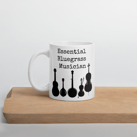 Essential Bluegrass Musician Coffee Tea Mug - Choose Size