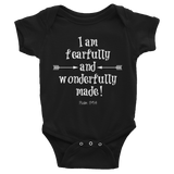 Fearfully and Wonderfully Made Onesie Bodysuit - Choose Color - Sunshine and Spoons Shop