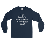 Fearfully and Wonderfully Made Unisex Long Sleeved Shirt - Choose Color - Sunshine and Spoons Shop