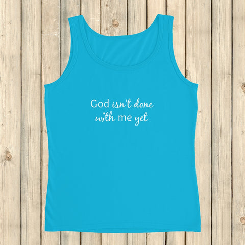 God Isn't Done with Me Yet Semicolon Women's Tank Top - Choose Color - Sunshine and Spoons Shop