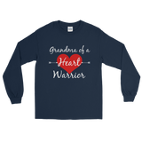 Grandma of a Heart Warrior CHD Heart Defect Unisex Long Sleeved Shirt - Choose Color - Sunshine and Spoons Shop