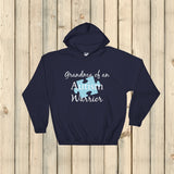 Grandma of an Autism Warrior Awareness Puzzle Piece Hoodie Sweatshirt - Choose Color - Sunshine and Spoons Shop