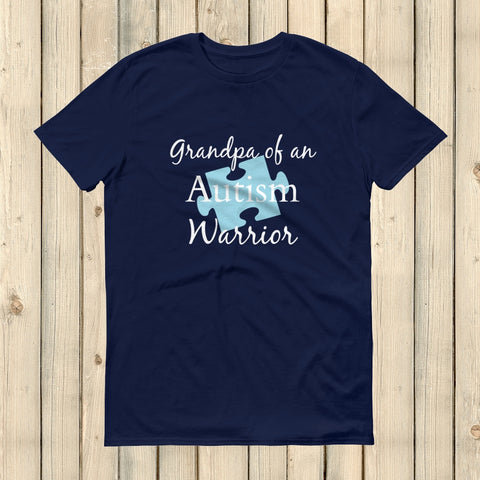 Grandpa of an Autism Warrior Awareness Puzzle Piece Unisex Shirt - Choose Color - Sunshine and Spoons Shop