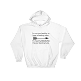 I'm Healthy Because of My Feeding Tube Hoodie Sweatshirt - Choose Color - Sunshine and Spoons Shop