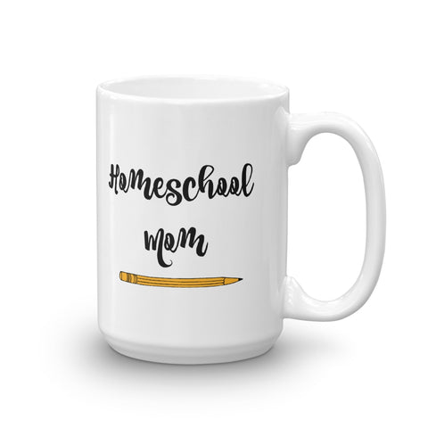 Homeschool Mom Pencil Coffee Tea Mug - Choose Size - Sunshine and Spoons Shop