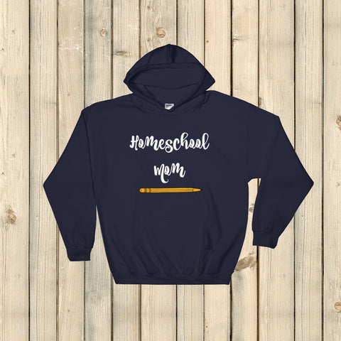 Homeschool Mom Pencil Hoodie Sweatshirt - Choose Color - Sunshine and Spoons Shop