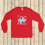 I am an Autism Warrior Awareness Puzzle Piece Unisex Long Sleeved Shirt - Choose Color - Sunshine and Spoons Shop