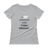 I Love Someone with Celiac Disease Scoop Neck Women's Shirt - Choose Color - Sunshine and Spoons Shop