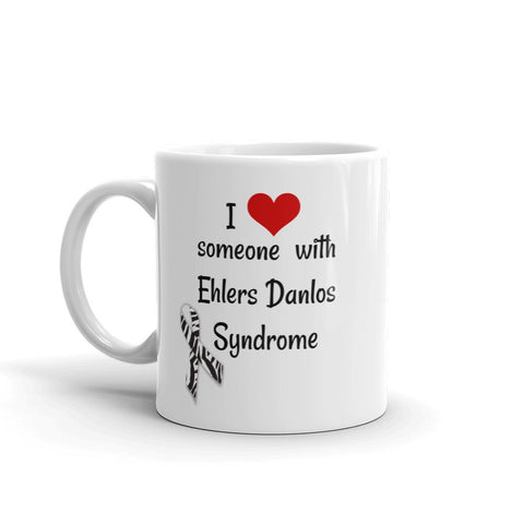 I Love Someone with Ehlers Danlos Syndrome EDS Coffee Tea Mug - Choose Size - Sunshine and Spoons Shop