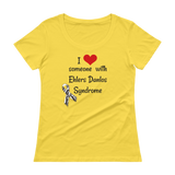 Love Someone with Ehlers Danlos Syndrome EDS Scoop Neck Women's Shirt - Choose Color - Sunshine and Spoons Shop