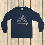 I Love Someone with Eczema Awareness Unisex Long Sleeved Shirt - Choose Color - Sunshine and Spoons Shop