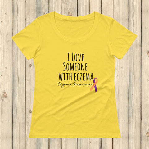 I Love Someone with Eczema Awareness Scoop Neck Women's Shirt - Choose Color - Sunshine and Spoons Shop