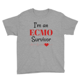 I am an ECMO Survivor Kids' Shirt - Choose Color - Sunshine and Spoons Shop