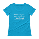 It's Not In My Head, It's In My Collagen Ehlers Danlos EDS Scoop Neck Women's Shirt - Choose Color