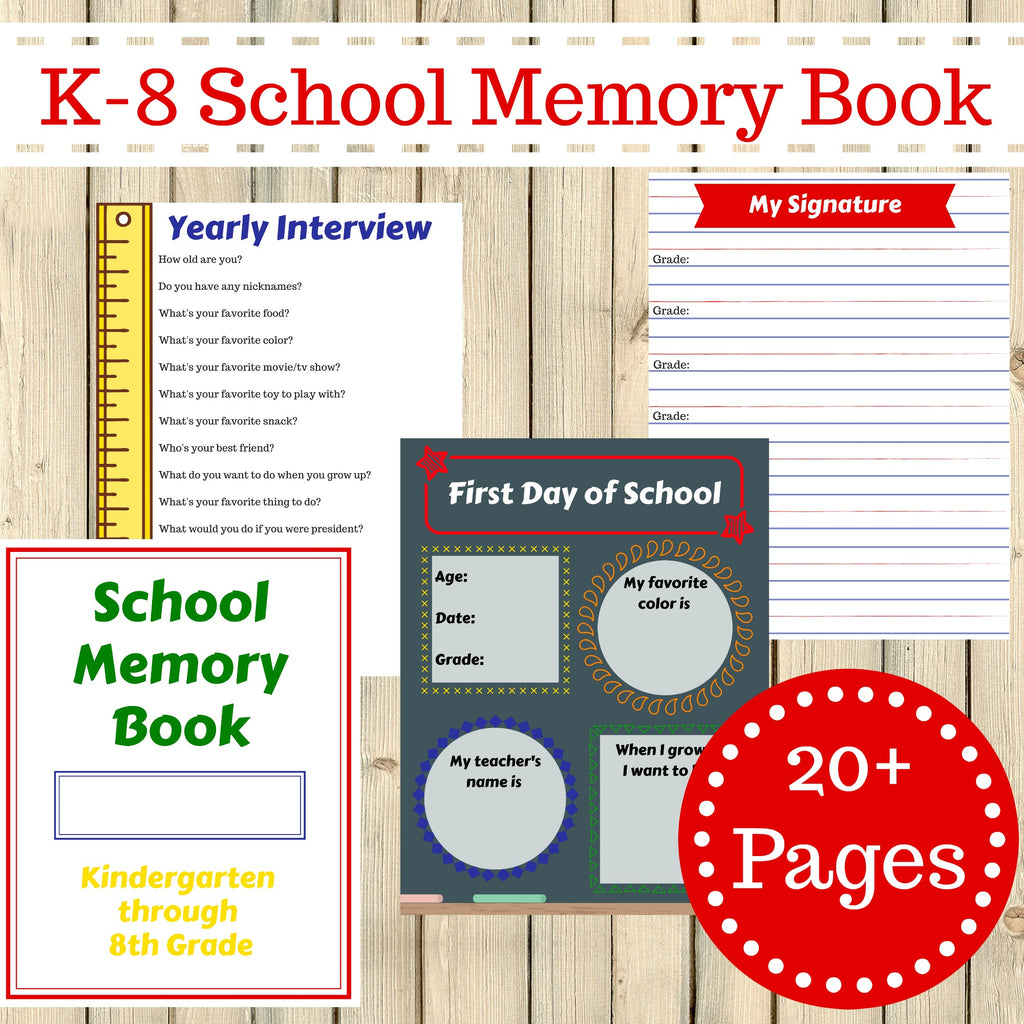 It is a picture of Memory Book Printable with pre k