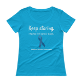 Keep Staring. Maybe It'll Grow Back. Alopecia Awareness Scoop Neck Women's Shirt - Choose Color - Sunshine and Spoons Shop