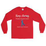 Keep Staring. Maybe It'll Grow Back. Alopecia Awareness Unisex Long Sleeved Shirt - Choose Color - Sunshine and Spoons Shop