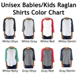 Care About Rare Disease Kids Raglan Baseball Shirt - Choose Color - Sunshine and Spoons Shop
