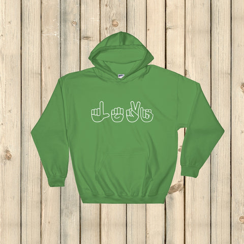 Personalized Sign Language ASL Hoodie Sweatshirt - Choose Color