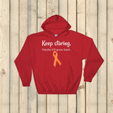 Keep Staring Maybe It'll Grow Back Limb Differences Awareness Hoodie Sweatshirt - Choose Color