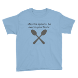 May the Spoons Be Ever in Your Favor Spoonie Kids' Shirt - Choose Color - Sunshine and Spoons Shop