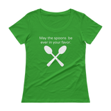 May the Spoons Be Ever in Your Favor Spoonie Scoop Neck Women's Shirt - Choose Color - Sunshine and Spoons Shop