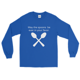 May the Spoons Be Ever in Your Favor Spoonie Unisex Long Sleeved Shirt - Choose Color - Sunshine and Spoons Shop