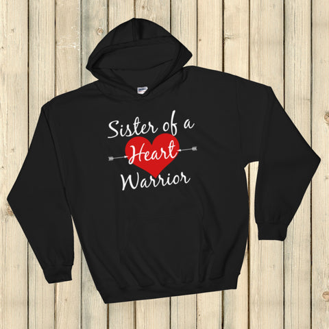 Sister of a Heart Warrior CHD Heart Defect Hoodie Sweatshirt - Choose Color - Sunshine and Spoons Shop
