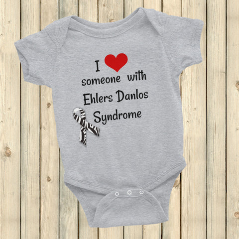 I Love Someone with Ehlers Danlos Syndrome EDS Onesie Bodysuit - Choose Color - Sunshine and Spoons Shop
