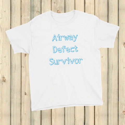 Airway Defect Survivor Tracheomalacia Laryngomalacia Kids' Shirt - Choose Color