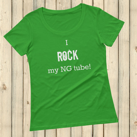I Rock My NG Tube Feeding Tube Scoop Neck Women's Shirt - Choose Color - Sunshine and Spoons Shop
