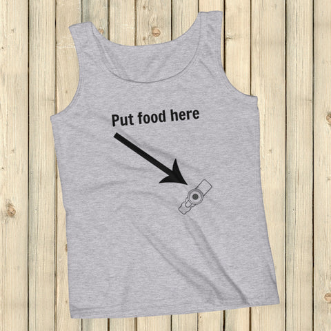 Put Food here G Tube Feeding Tube Women's Tank Top - Choose Color