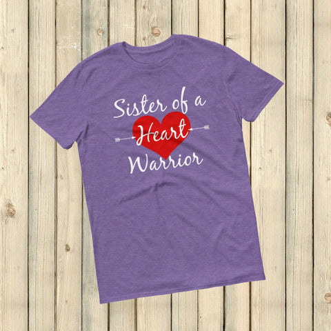 Sister of a Heart Warrior CHD Heart Defect Unisex Shirt - Choose Color - Sunshine and Spoons Shop