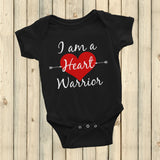 I am a Heart Warrior CHD Heart Defect Onesie Bodysuit - Choose Color